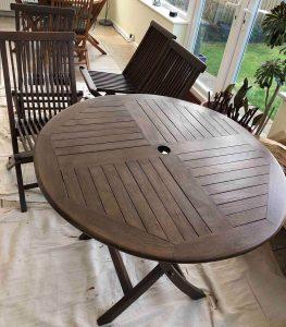 restoring wooden garden furniture