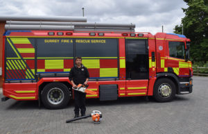 stihl provide fordbridge fire station with tools to create a wellbeing garden