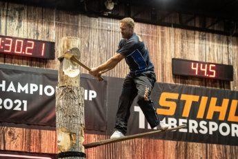 STIHL TIMBERSPORTS standing chop discipline