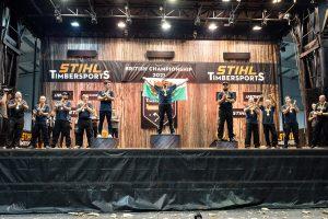 STIHL TIMBERSPORTS British Championship podium