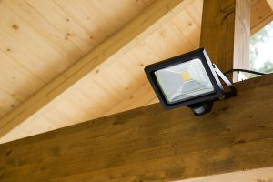 add a security light to help secure your shed