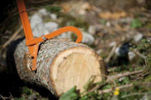 STIHL Felling Lever and log